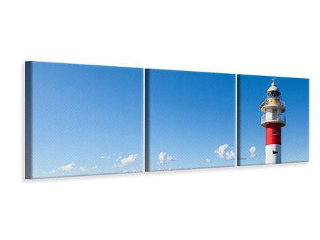Panorama Leinwandbild 3-teilig Leuchtturm in Punta Teno