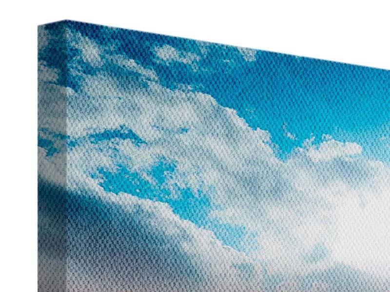 Panorama Leinwandbild 3-teilig Skyline Über den Dächern von Manhattan