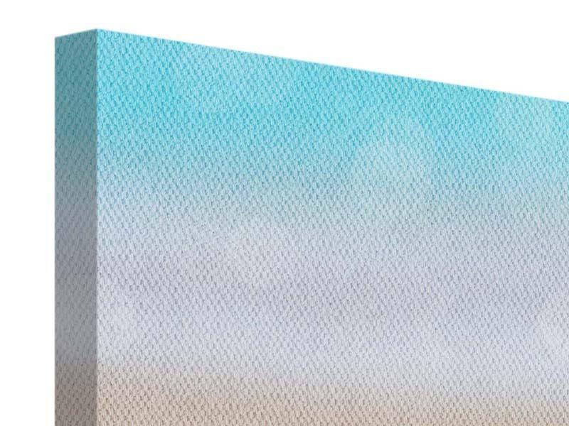 Panorama Leinwandbild 3-teilig Die Muschel am Strand