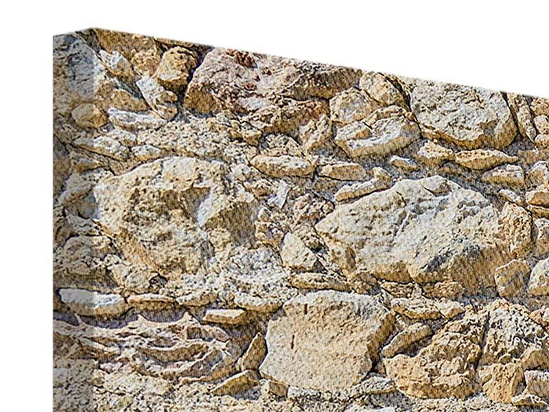 Panorama Leinwandbild 3-teilig Sandsteinmauer