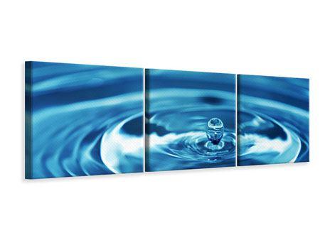Panorama Leinwandbild 3-teilig Der Wassertropfen