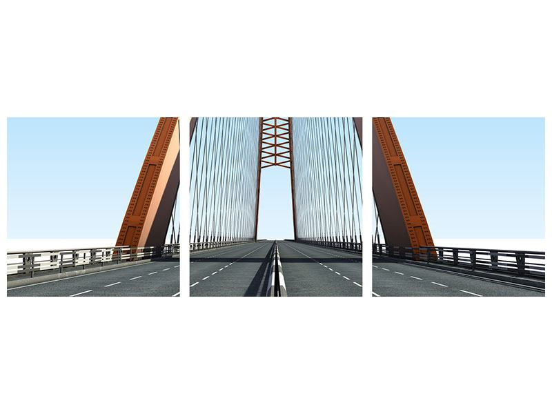 Panorama Leinwandbild 3-teilig Brückenpanorama