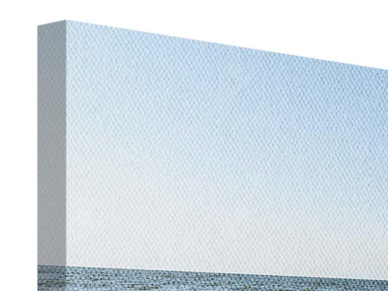 Panorama Leinwandbild 3-teilig Sandspuren