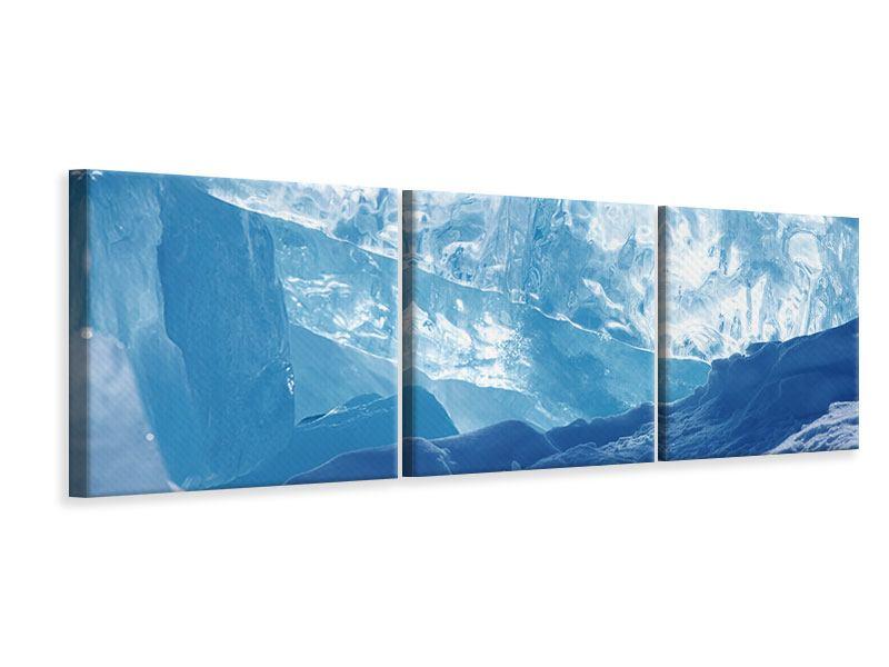 Panorama Leinwandbild 3-teilig Baikalsee-Eis