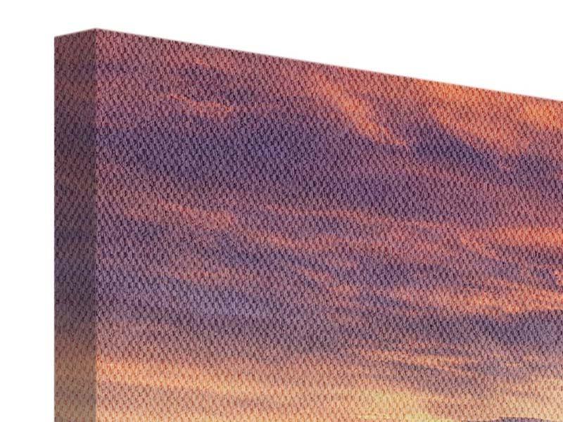 Panorama Leinwandbild 3-teilig Sonnenaufgang Winterlandschaft