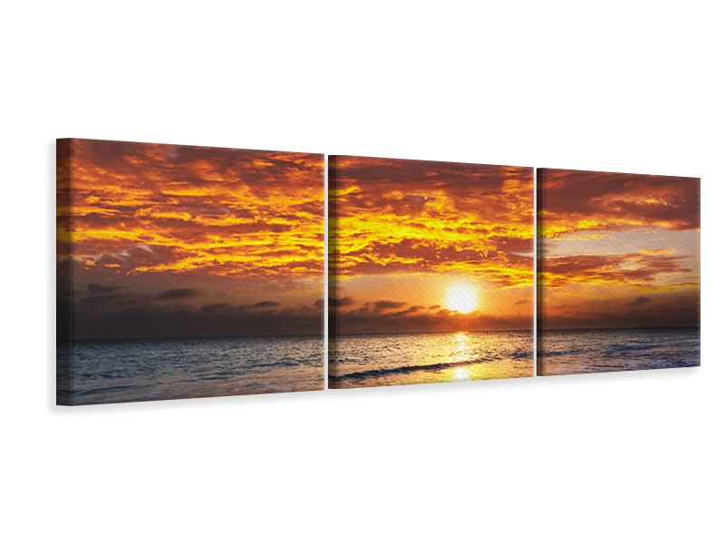 Panorama Leinwandbild 3-teilig Entspannung am Meer