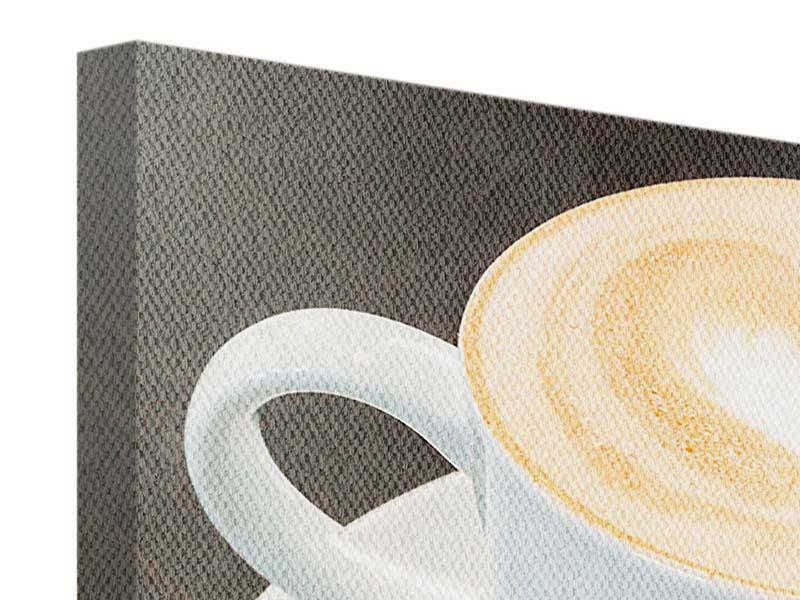 Panorama Leinwandbild 3-teilig Lieblingskaffee