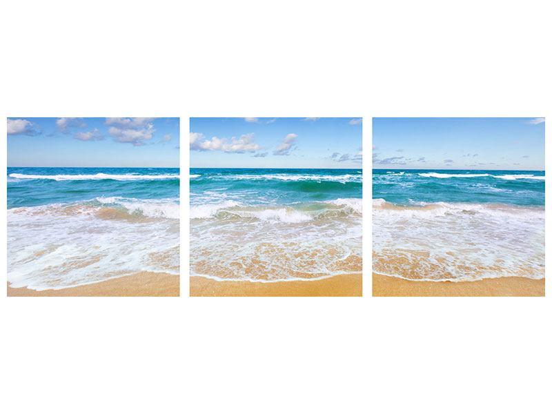 Panorama Leinwandbild 3-teilig Die Gezeiten und das Meer