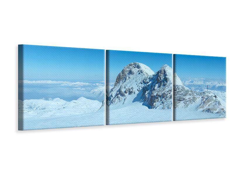 Panorama Leinwandbild 3-teilig Über den Wolken
