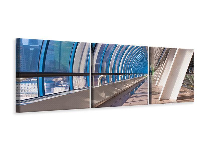 Panorama Leinwandbild 3-teilig Hypermoderne Brücke