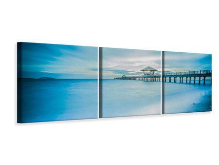 Panorama Leinwandbild 3-teilig Brückenimpression