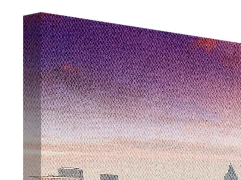 Panorama Leinwandbild 3-teilig Skyline Penthouse in New York