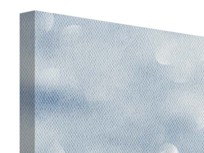 Panorama Leinwandbild 3-teilig Kristallglanz