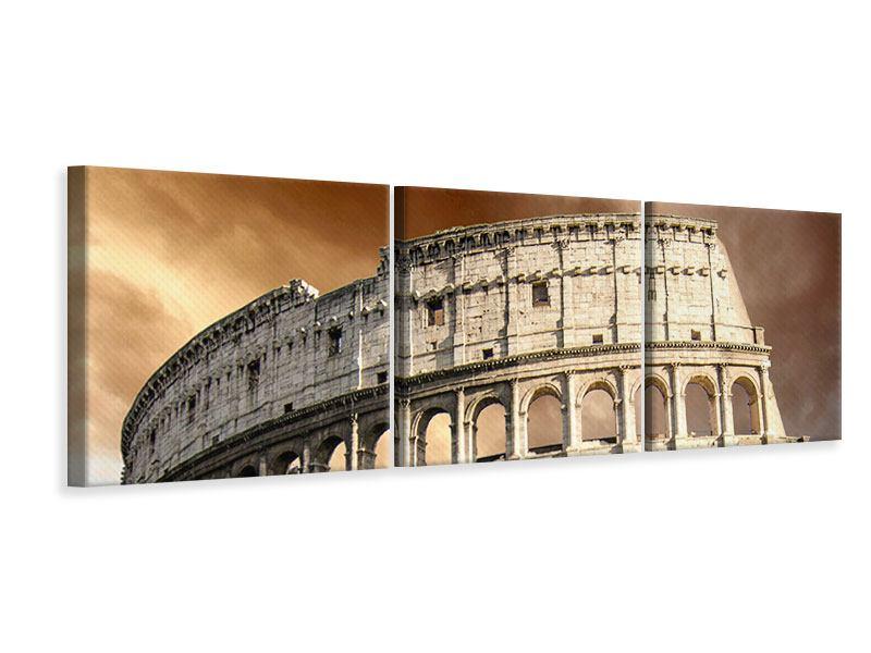Panorama Leinwandbild 3-teilig Kolosseum Rom