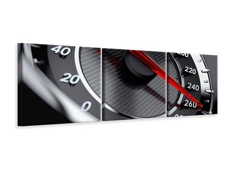 Panorama Leinwandbild 3-teilig Geschwindigkeit