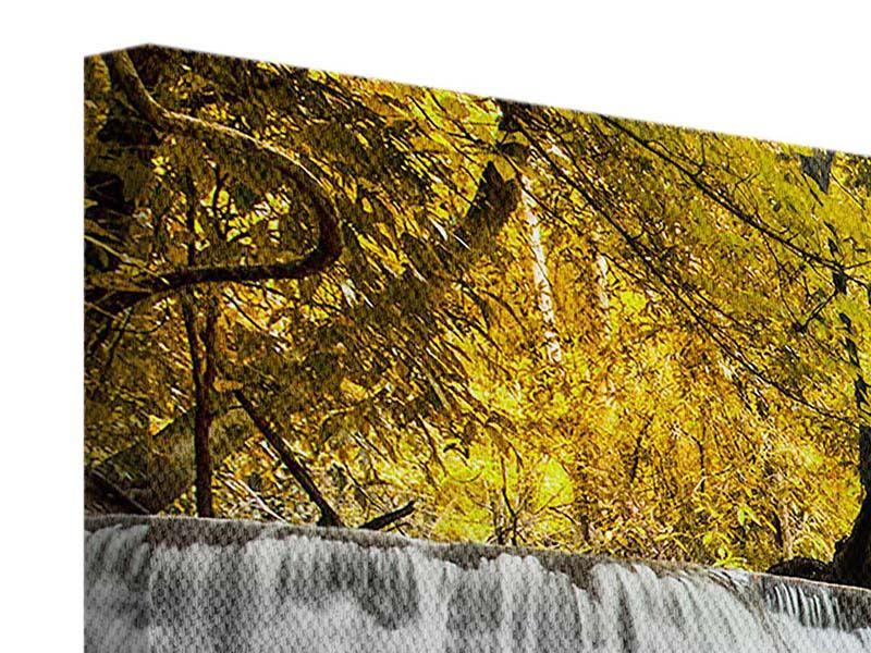 Panorama Leinwandbild 3-teilig Wasser in Aktion