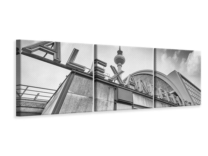 Panorama Leinwandbild 3-teilig Alexanderplatz