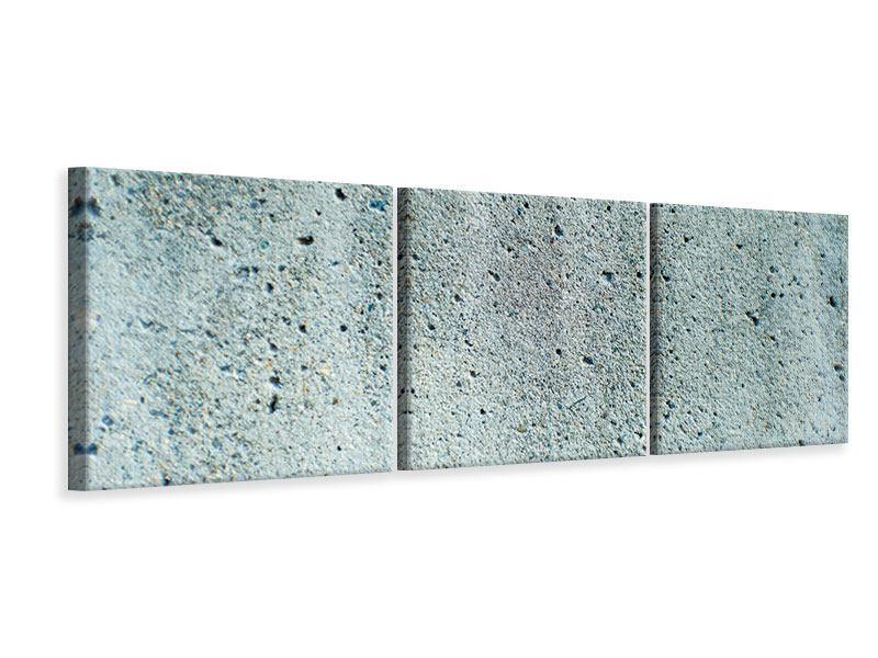 Panorama Leinwandbild 3-teilig Beton in Grau