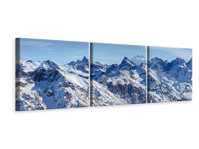 Panorama Leinwandbild 3-teilig Gipfelspitzen