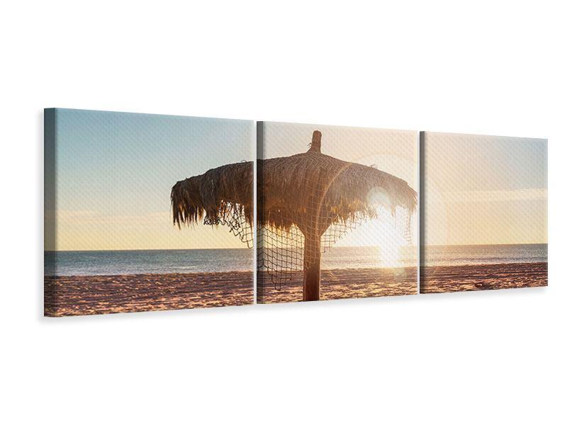 Panorama Leinwandbild 3-teilig Der Sonnenschirm