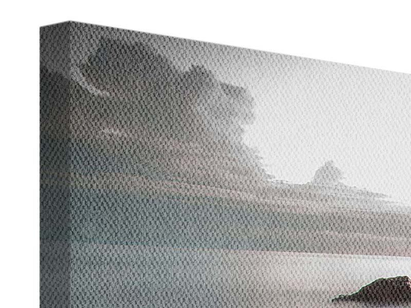 Panorama Leinwandbild 3-teilig Steine am Strand