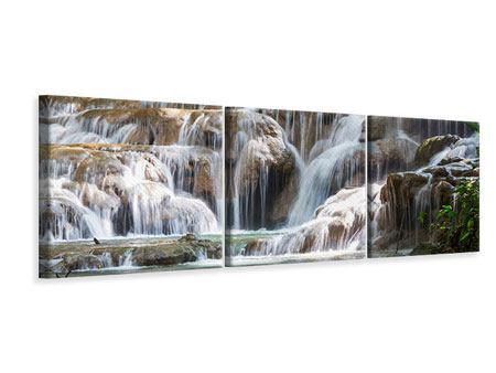 Panorama Leinwandbild 3-teilig Mexikanischer Wasserfall