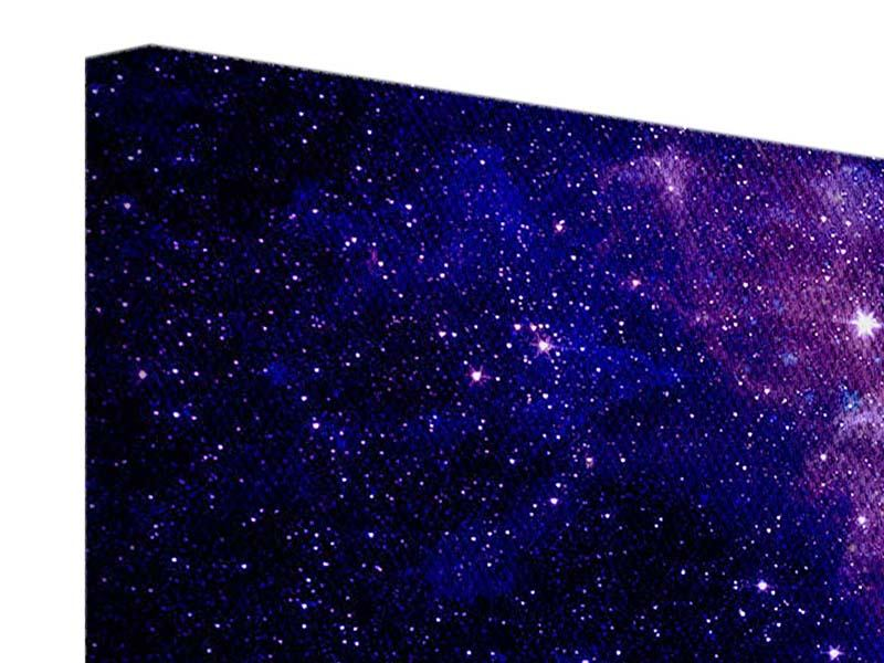 Panorama Leinwandbild 3-teilig Ein Himmel voll Sterne