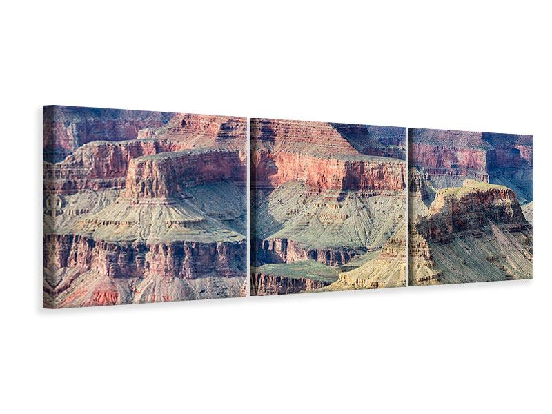 Panorama Leinwandbild 3-teilig Gran Canyon