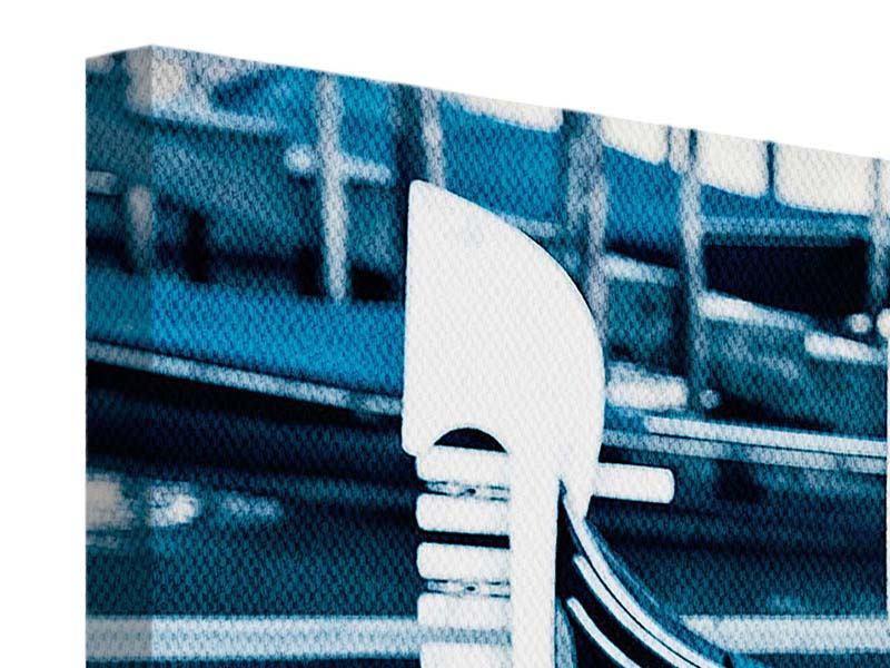 Panorama Leinwandbild 3-teilig Gondeln in Venedig