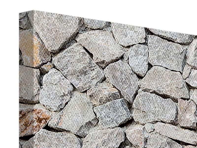 Panorama Leinwandbild 3-teilig Grunge-Stil Mauer