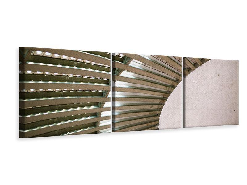 Panorama Leinwandbild 3-teilig Abstraktes Rad