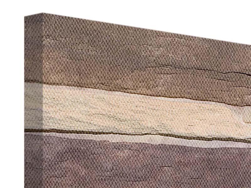 Panorama Leinwandbild 3-teilig Designer-Mauer