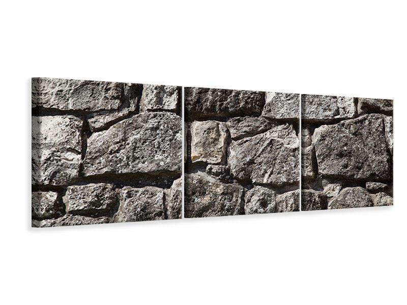 Panorama Leinwandbild 3-teilig Grosses Mauerwerk