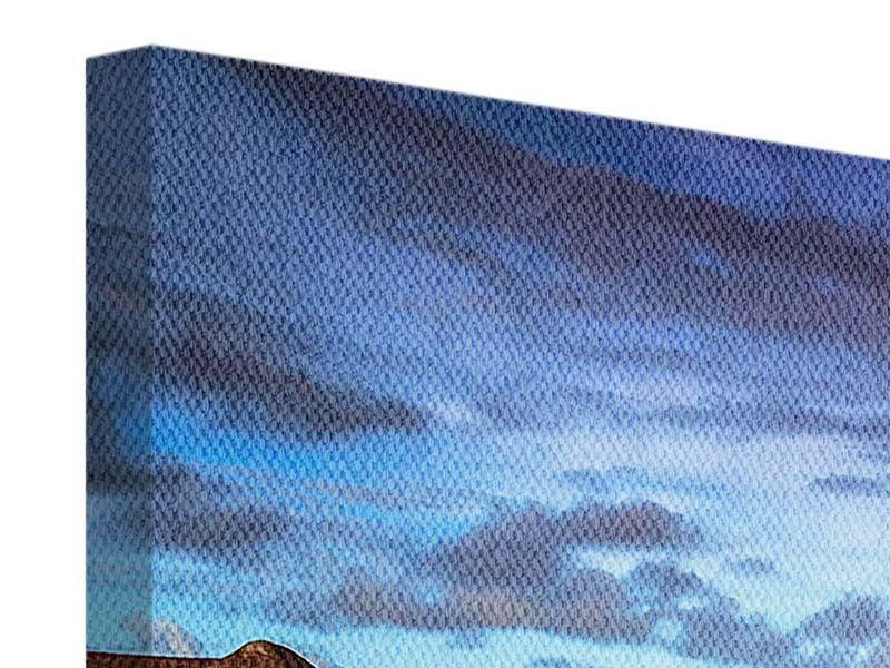 Panorama Leinwandbild 3-teilig Traumhaus im Wasser