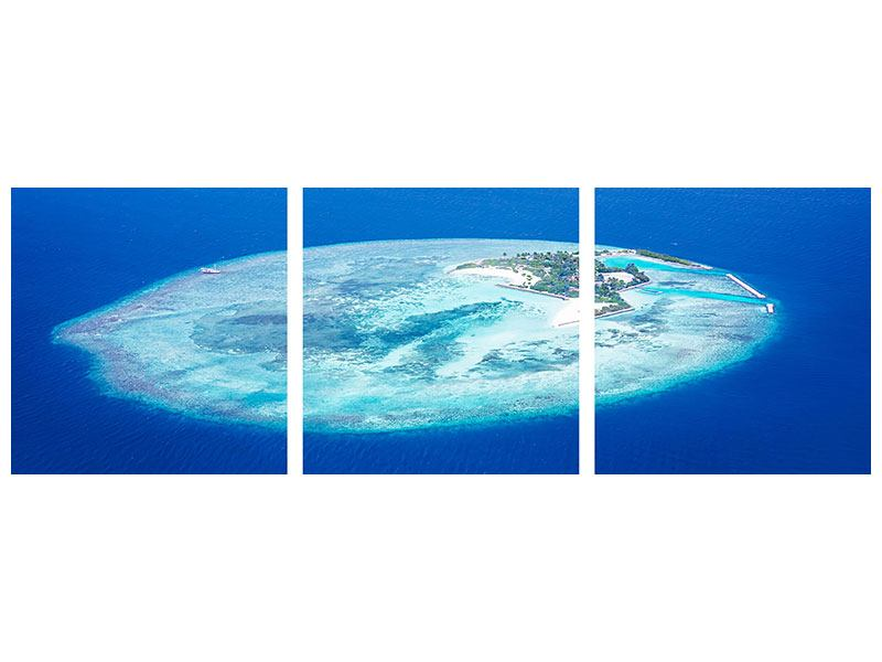 Panorama Leinwandbild 3-teilig Reif für die Trauminsel