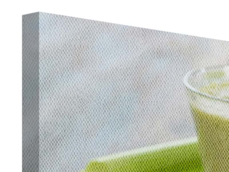 Panorama Leinwandbild 3-teilig Smoothie