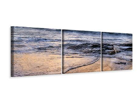Panorama Leinwandbild 3-teilig Das Meer