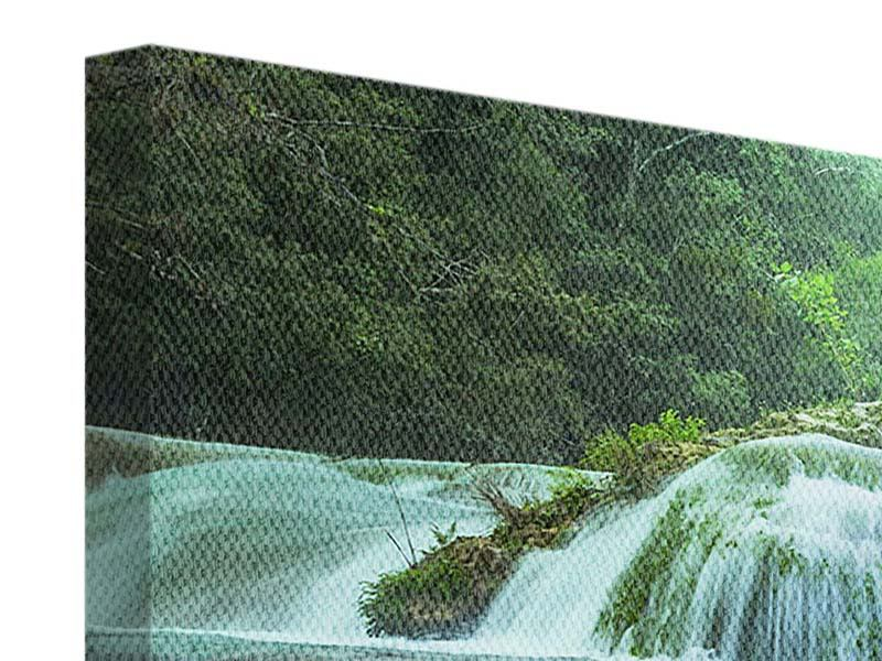 Panorama Leinwandbild 3-teilig Gigantischer Wasserfall
