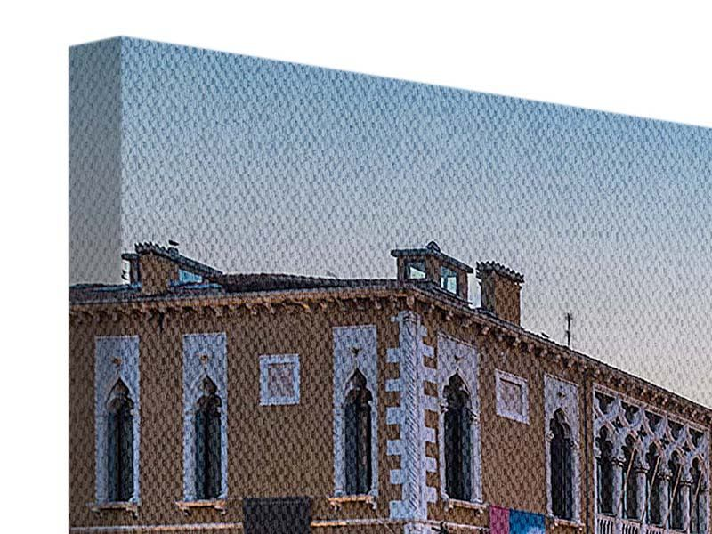 Panorama Leinwandbild 3-teilig Romantisches Venedig