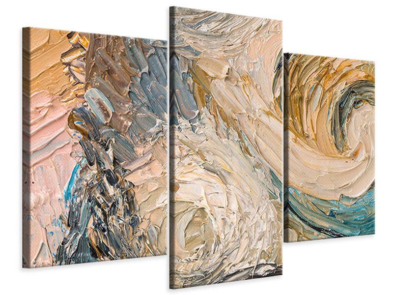 Leinwandbild 3-teilig modern Ölgemälde