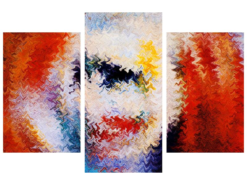 Leinwandbild 3-teilig modern Wandmalerei