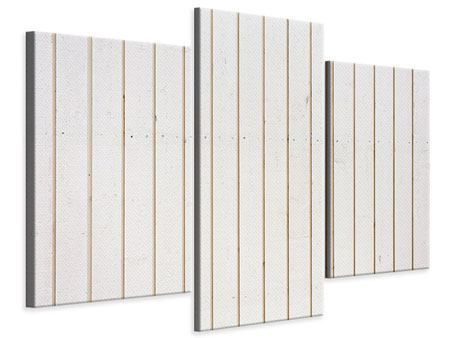 Leinwandbild 3-teilig modern Mediterranes Holz