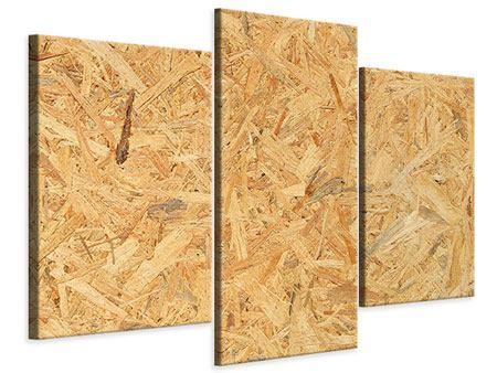 Leinwandbild 3-teilig modern Gepresstes Holz