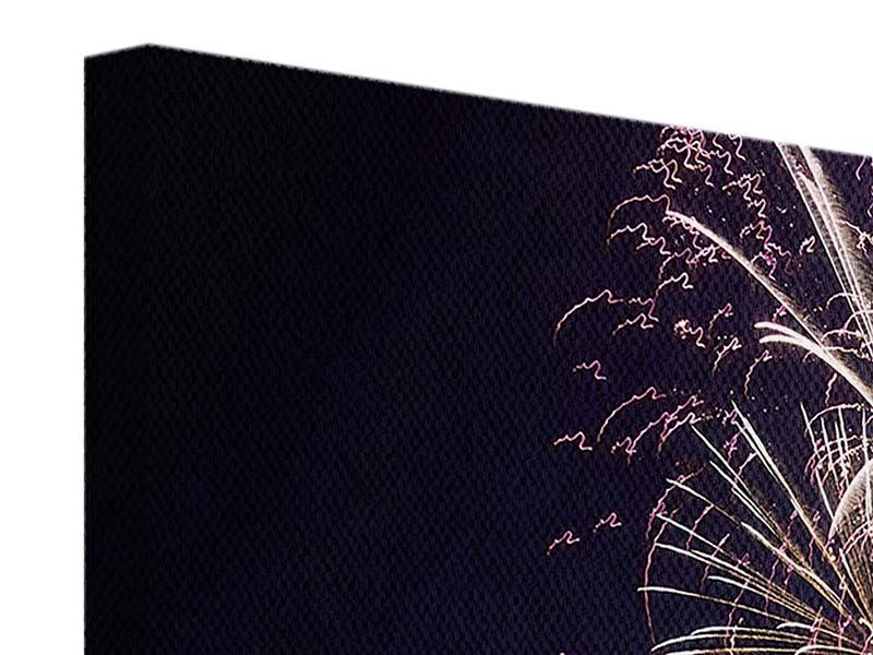 Leinwandbild 3-teilig modern Feuerwerk