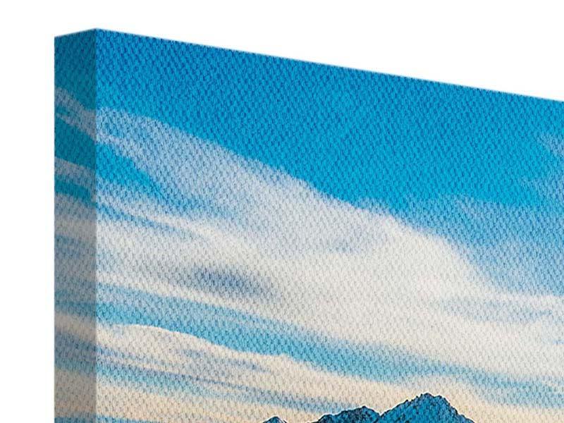 Leinwandbild 3-teilig modern Ein Wintermärchen in den Bergen