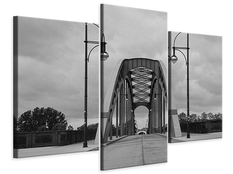 Leinwandbild 3-teilig modern Poetische Brücke