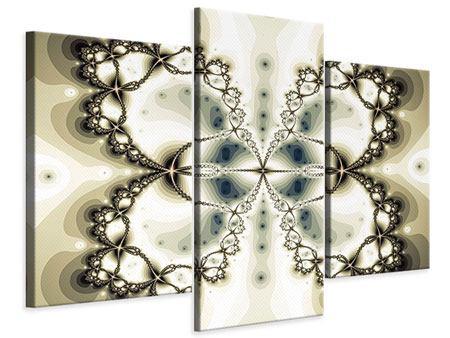 Leinwandbild 3-teilig modern Abstrakter Schmetterling
