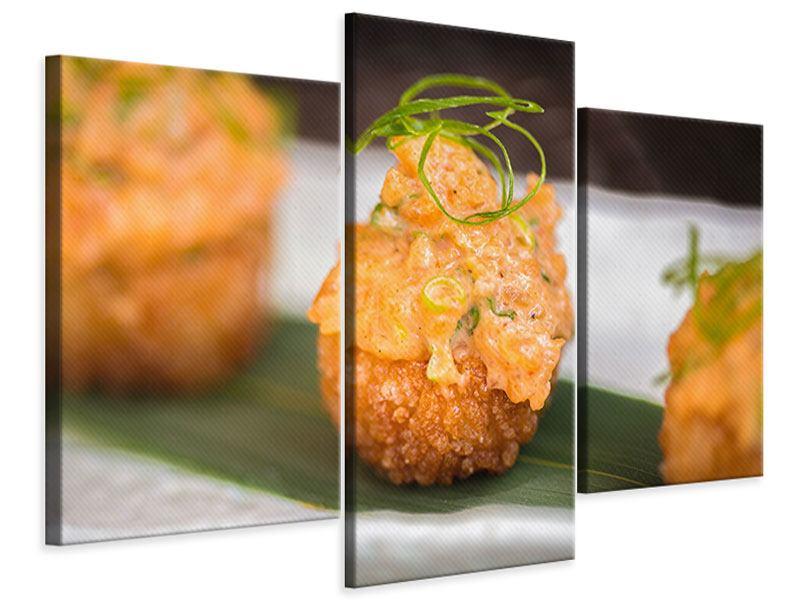 Leinwandbild 3-teilig modern Asiatische Küche