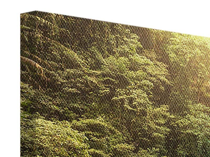 Leinwandbild 3-teilig modern Wasserfall Bali