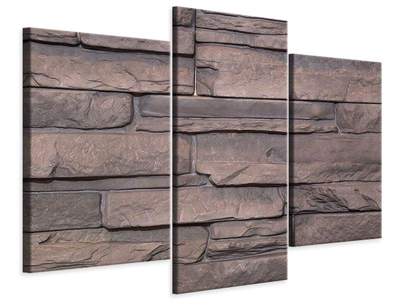 Leinwandbild 3-teilig modern Luxusmauer